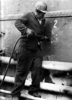 Arbeiter auf der AG-Weser