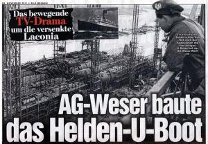 """AG-Weser baute das """"Helden-U-Boot"""""""