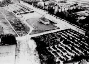 Gröpelinger Friedhof mit Straßenbahndepot 1926