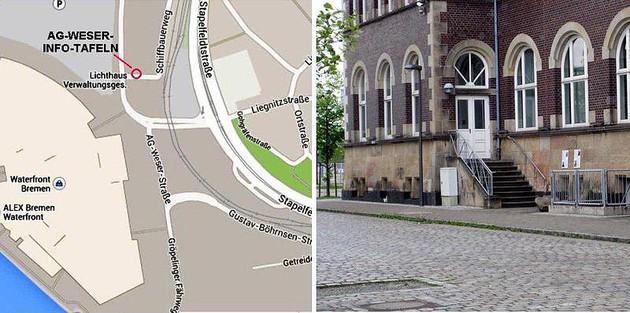 Standort der AG-Weser-Info-Tafeln