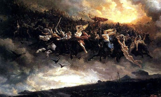 Odins Wilde Jagd (Gemälde von Peter Nicolai Arbo 1872)