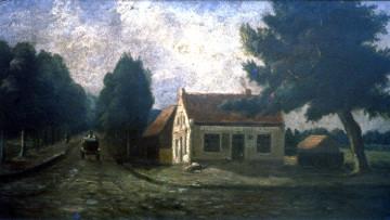 Der Eingang zum Dorf Gröpelingen um 1890