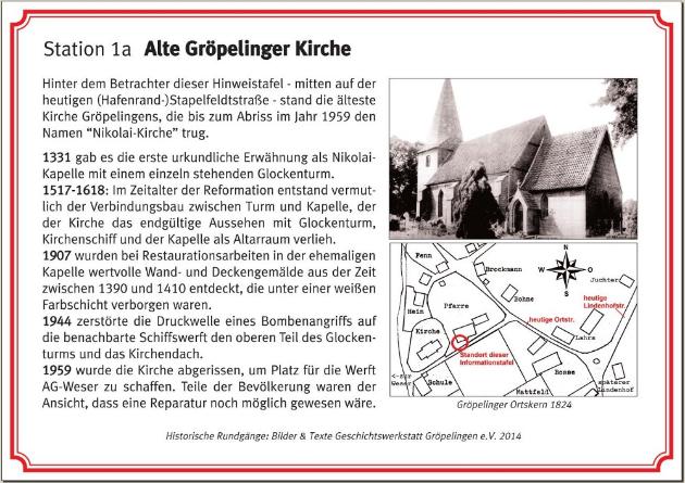 Station 1a Alte Gröpelinger Kirche