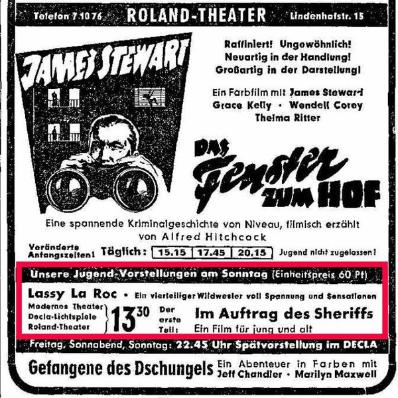 Anzeige im Weser-Kurier am 12.08.1955